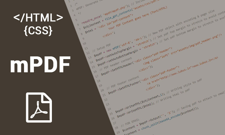 mPdf Php library to get your html/css exported to PDF with ease