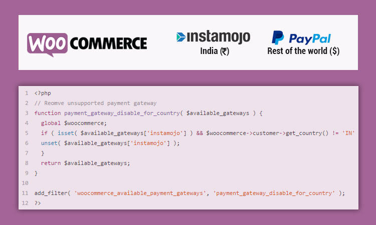 woocommerce paypal instamojo for dollar rupees