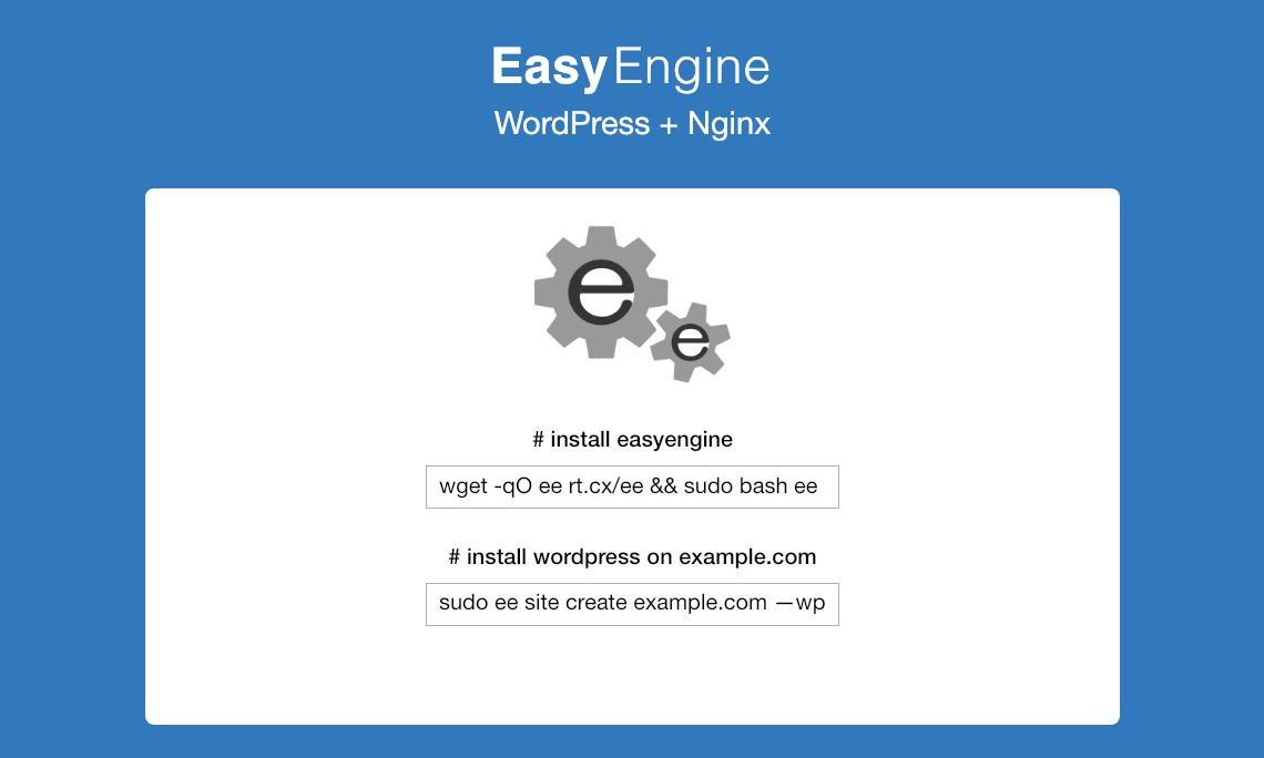 EasyEngine - Easy Peasy VPS